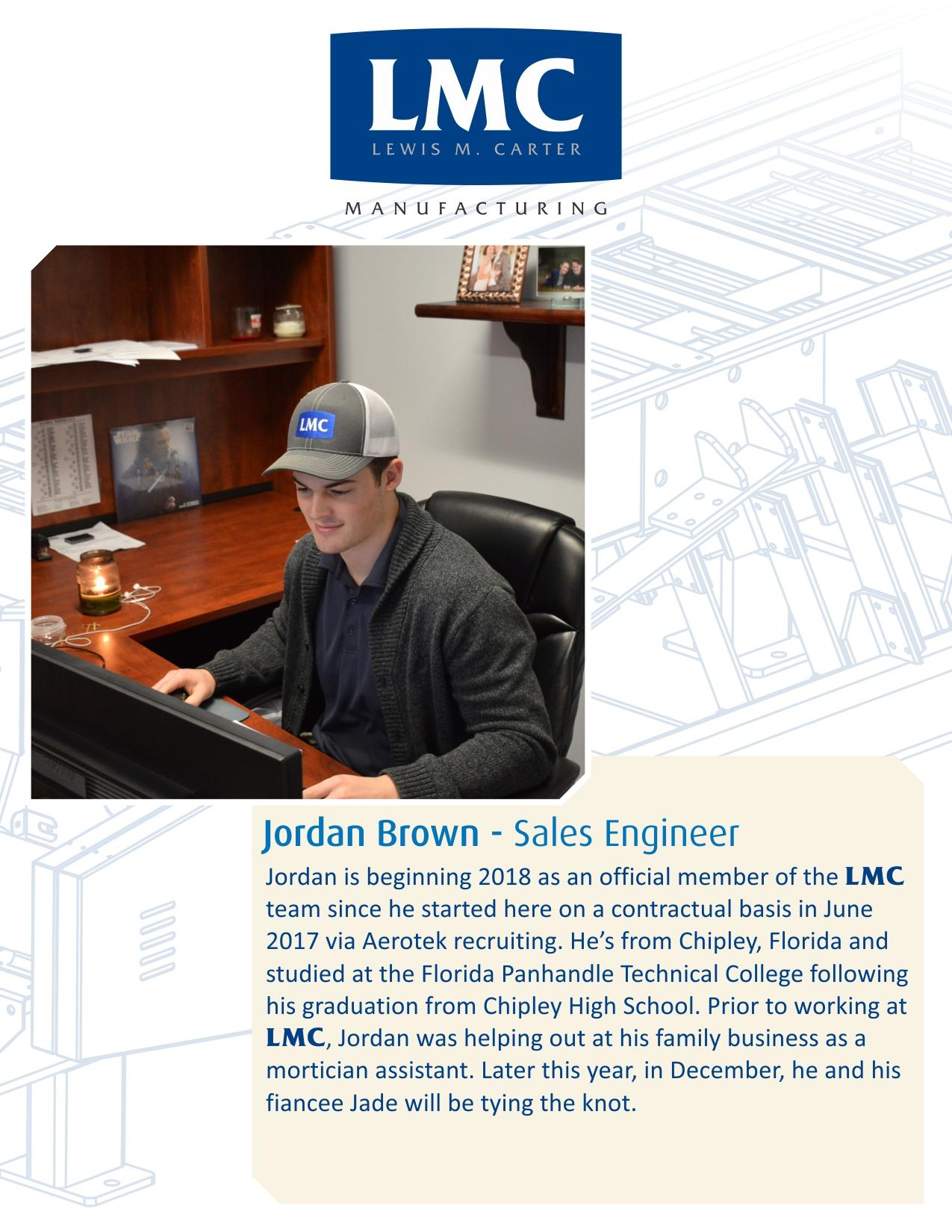 New Hire – Jordan Brown