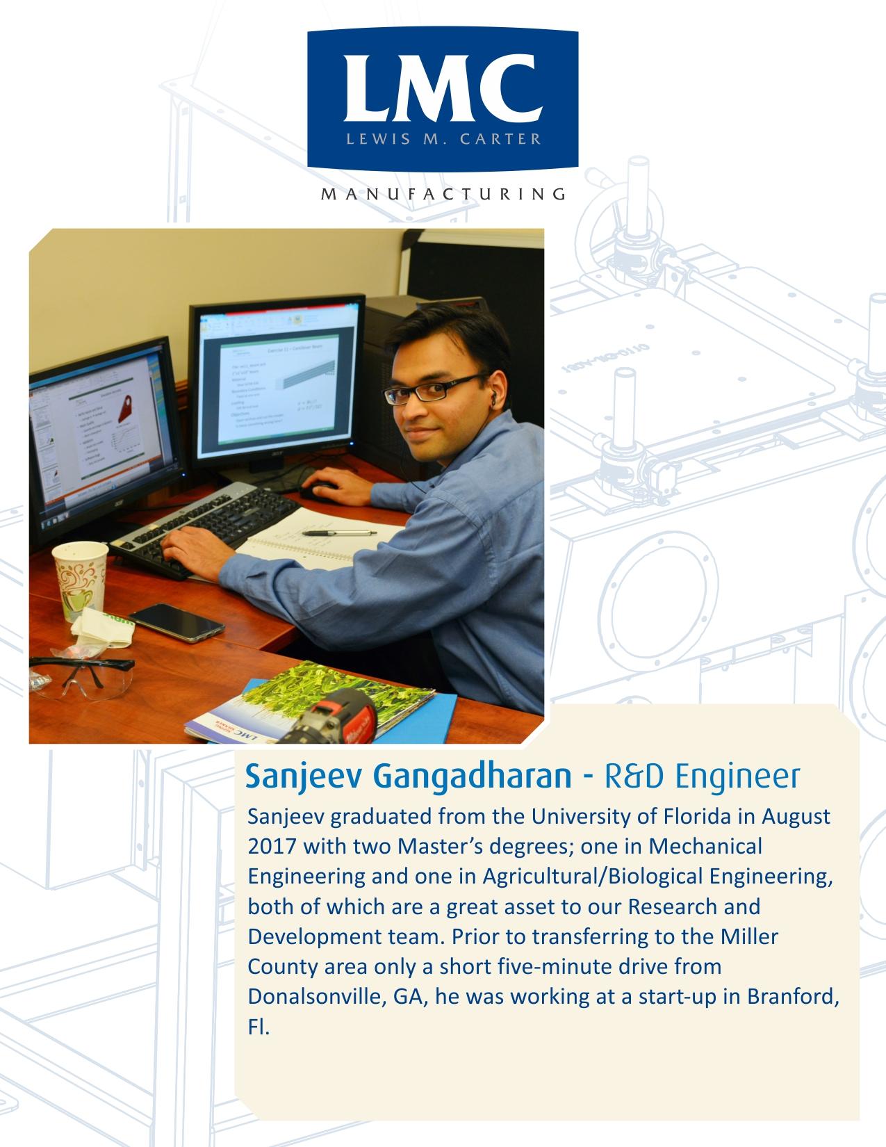 New Hire – Sanjeev Gangadharan