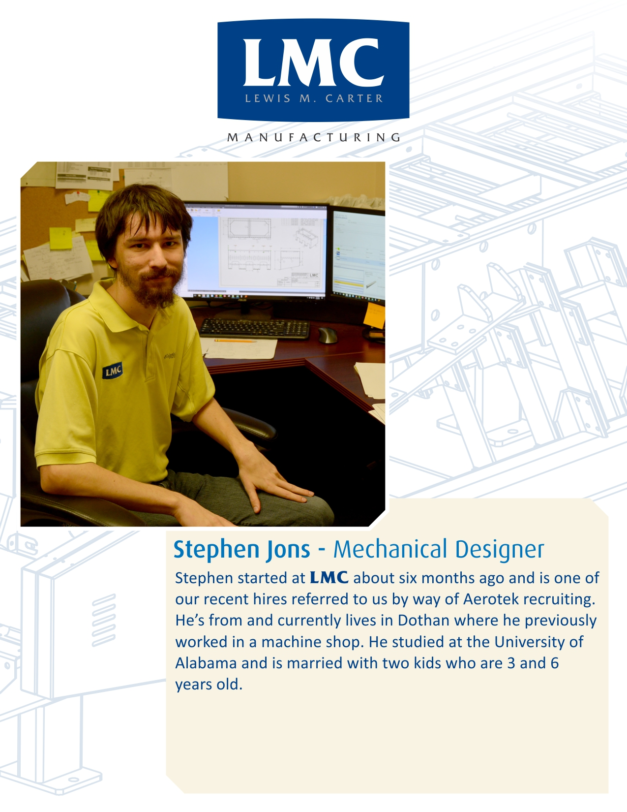 New Hire – Stephen Jons