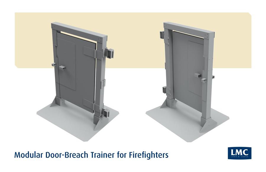 Modular Door-Breach Trainer for Firefighters
