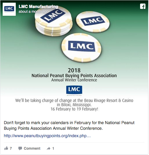 LMC to Attend 2018 National Peanut Buying Points Association Annual Winter Conference